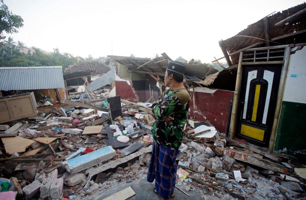 Indoneesia maavärinast räsitud Lomboki saart tabas tugev järeltõuge