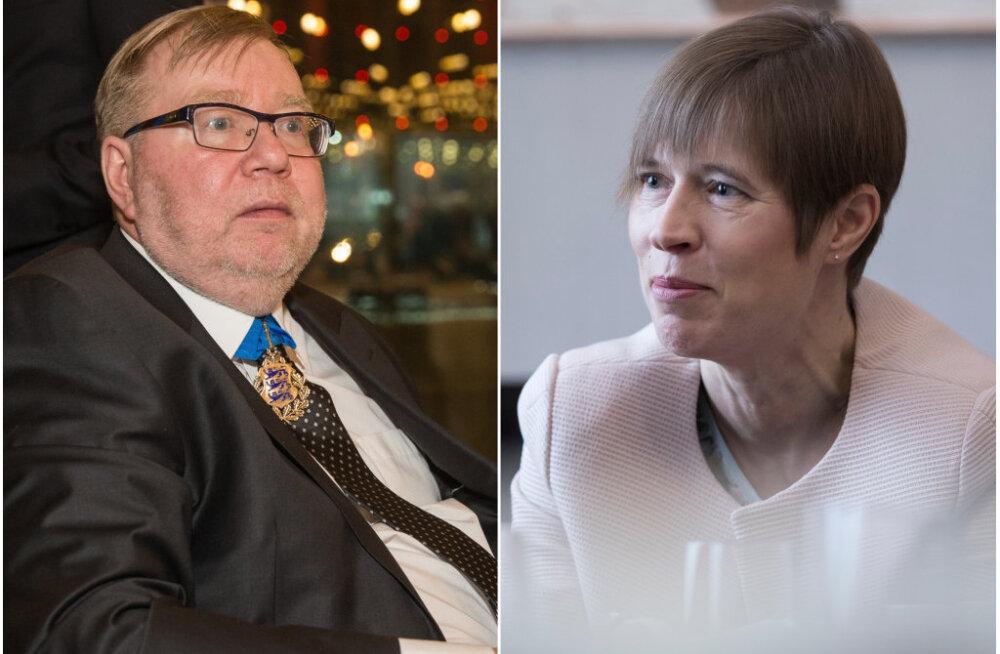 Kersti Kaljulaid leiab, et Mart Laar sobib Eesti Panga vapiloomaks