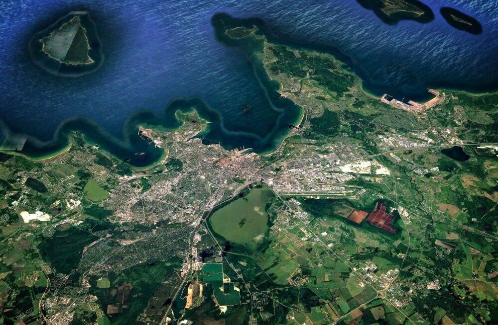 Google avapilt, töödeldud satelliidifoto