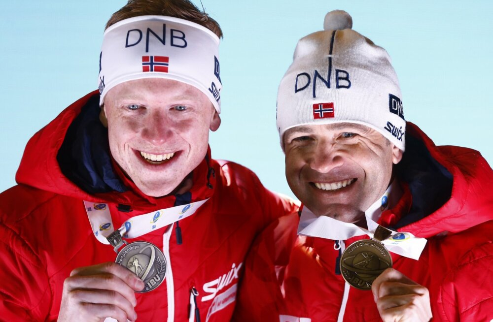 Johannes Thingnes Bö ja Ole Einar Björndalen