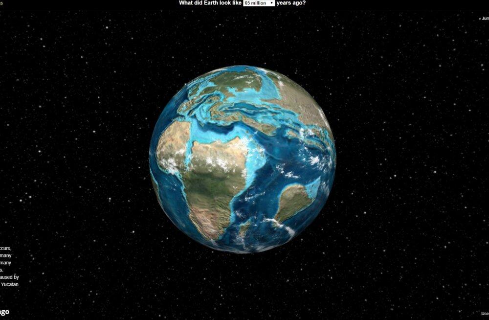 INTERAKTIIVNE GLOOBUS | Vaata, milline nägi Maa välja kümneid ja sadu miljoneid aastaid tagasi!