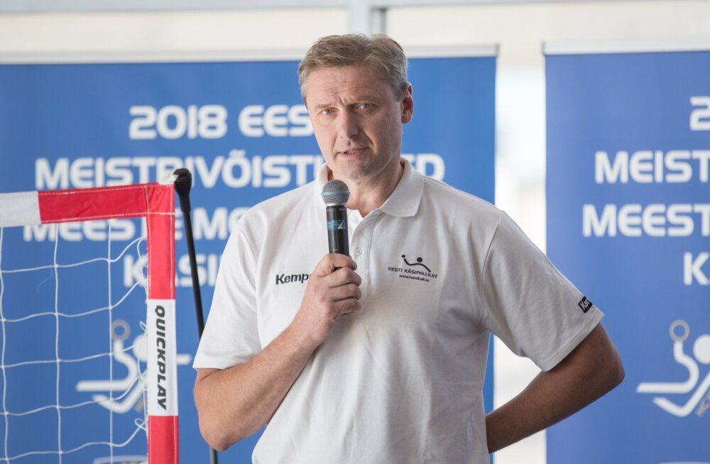 Käsipallikoondise peatreener Rein Suvi.