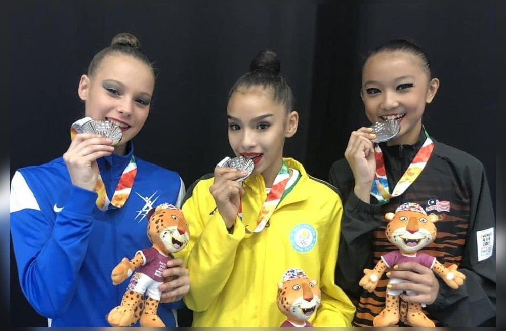 Iluvõimleja Adelina Beljajeva tõi Eestile noorte olümpialt juba teise medali
