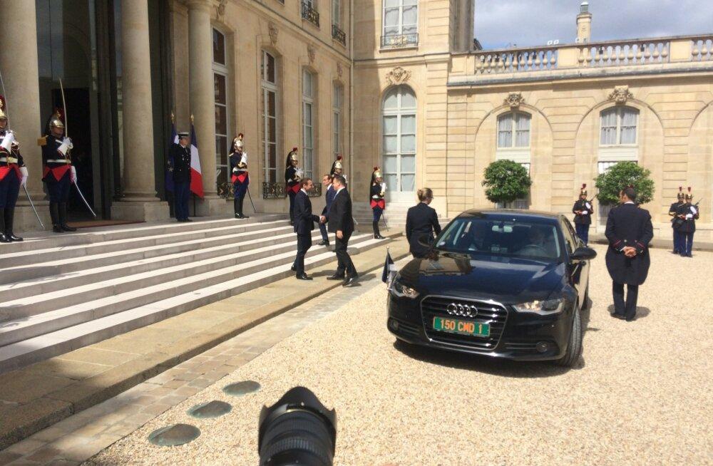 Jüri Ratas, Emmanuel Macron