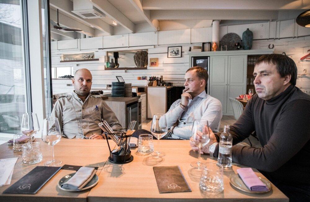 Noa omanikud Tõnis Siigur (vasakult), Martti Siimann ja Marko Zukker
