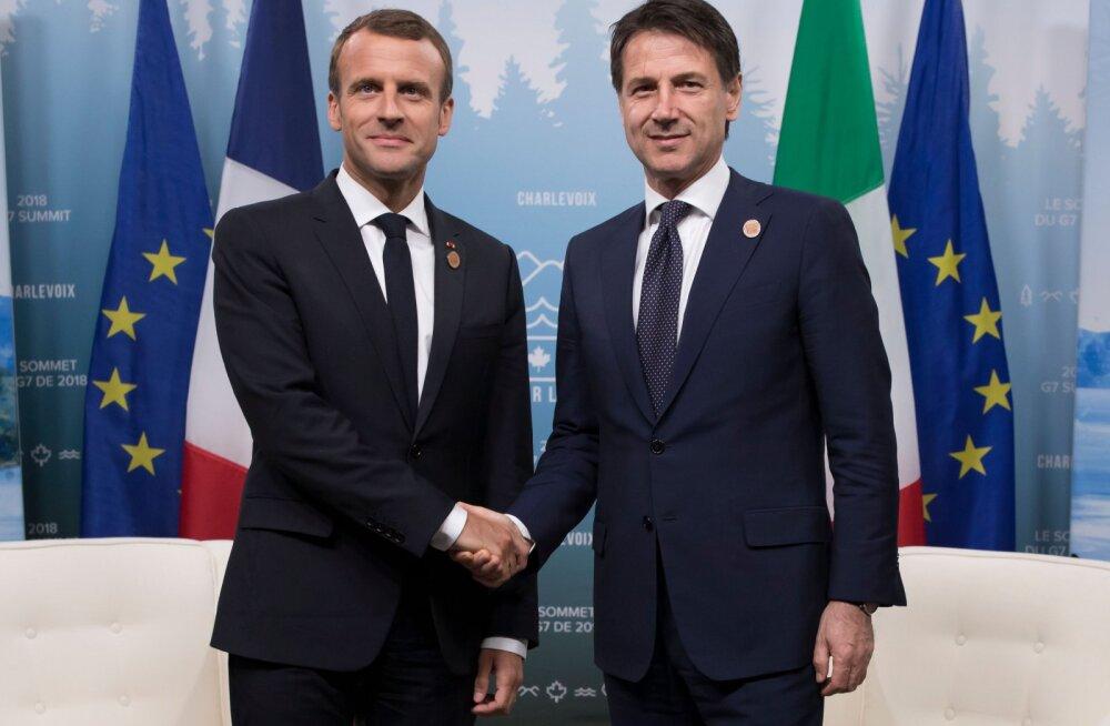 Itaalia ja Prantsuse liidrid kohtuvad migranditülist hoolimata. Macron: ma ei tahtnud itaallasi solvata