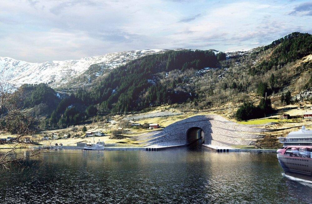 Stadi poolsaare tunnel kunstniku kujutluses