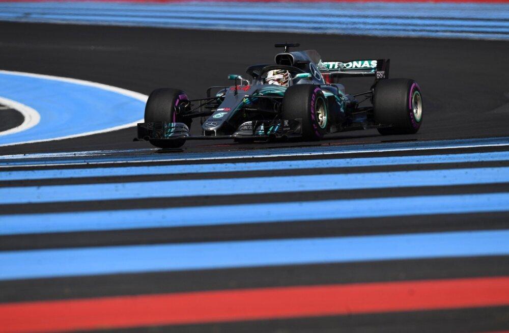 Prantsuse GP esimesi vabatreeninguid valitses Hamilton