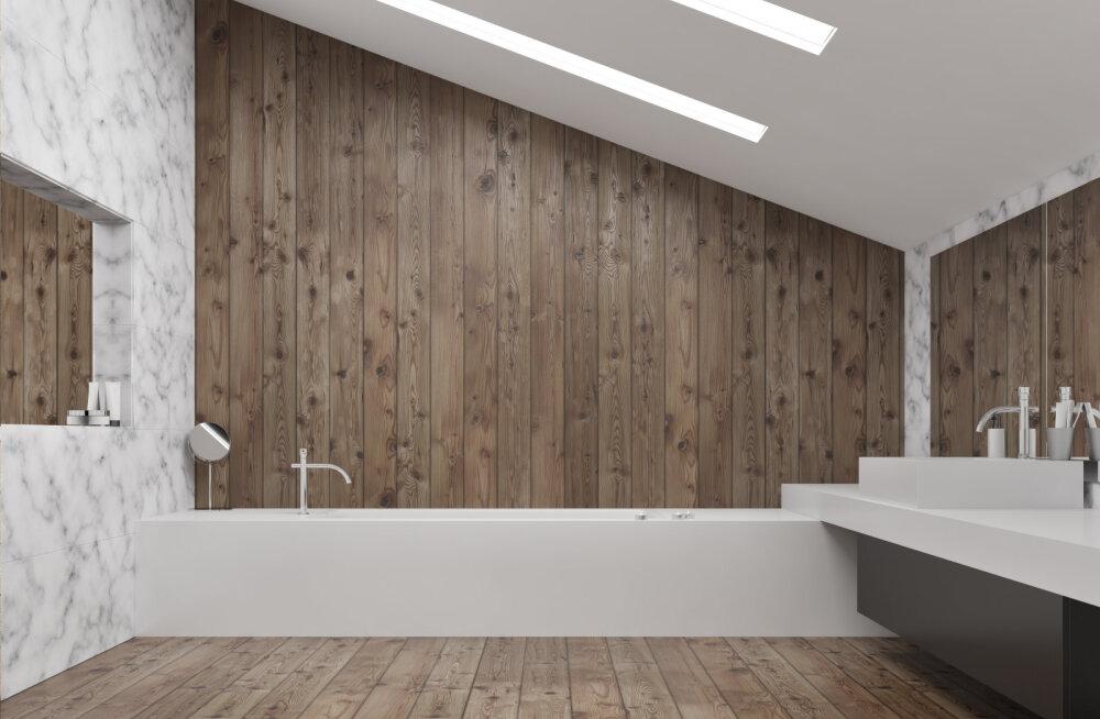 Laevatekipõrand vannituppa! Puitpõrand sobib hästi vannituppa, kui järgid ehitamisel neid nõudeid