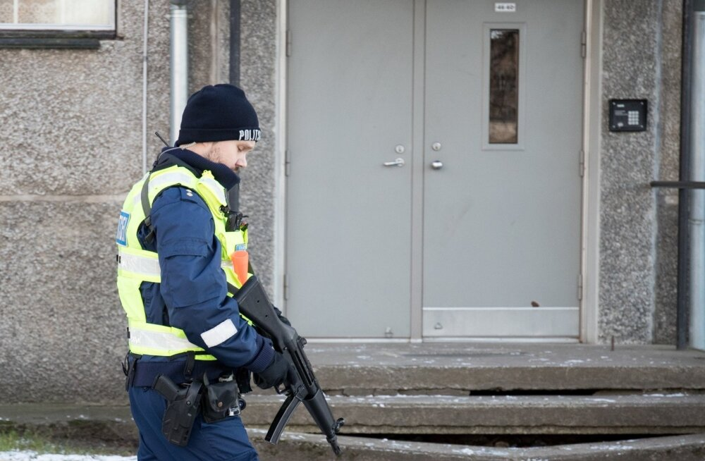 Relvastatud polisteinik. Foto on illustratiivne.
