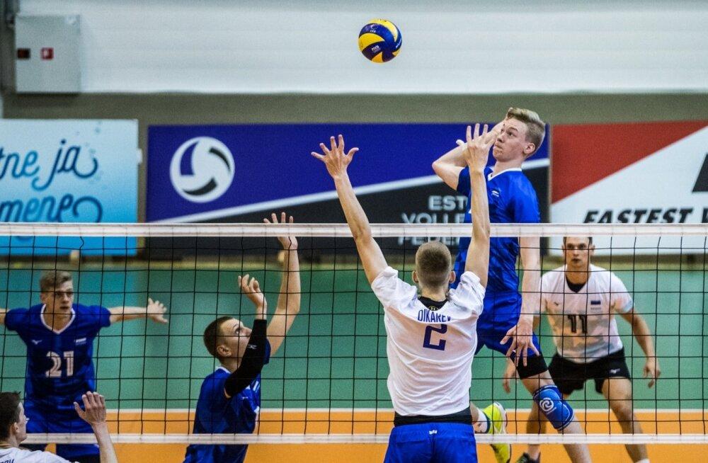 Eesti vs Venemaa võrkpallis. B-meeskonnad