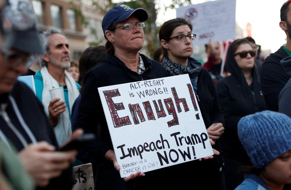 USAs pöördus valgete ülemvõimu kuulutavate äärmuslaste meeleavaldus vägivaldseks, mitu inimest sai surma ja viga