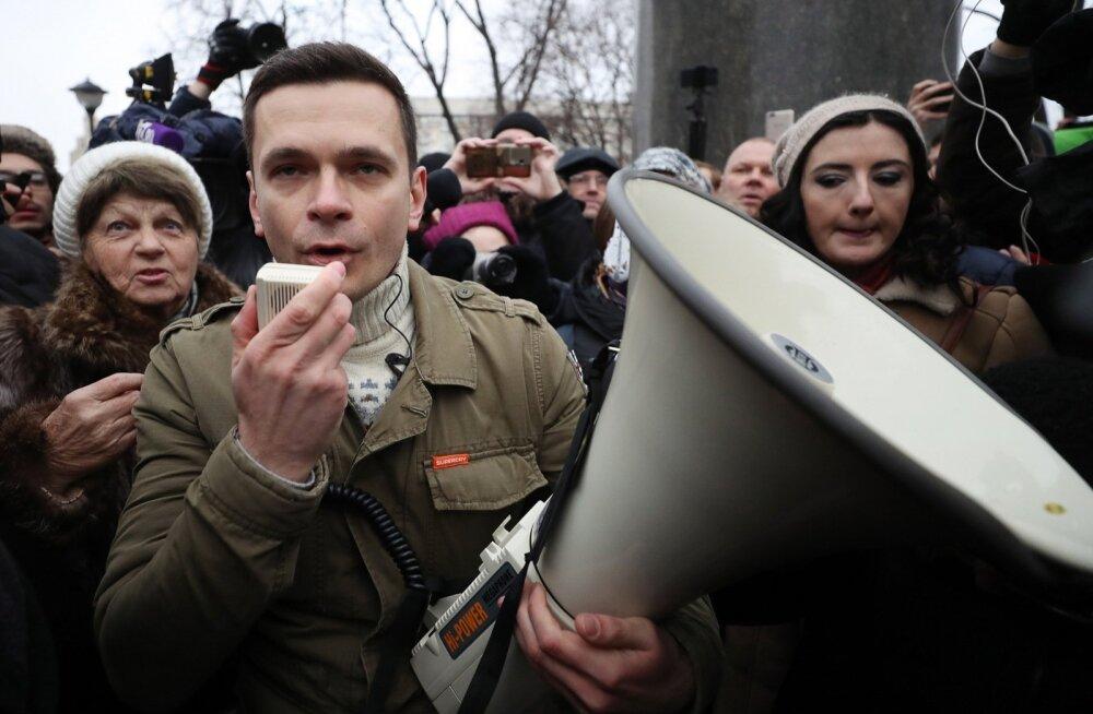 Vene opositsionäär Ilja Jašin teatas enda vahistamisest Moskvas