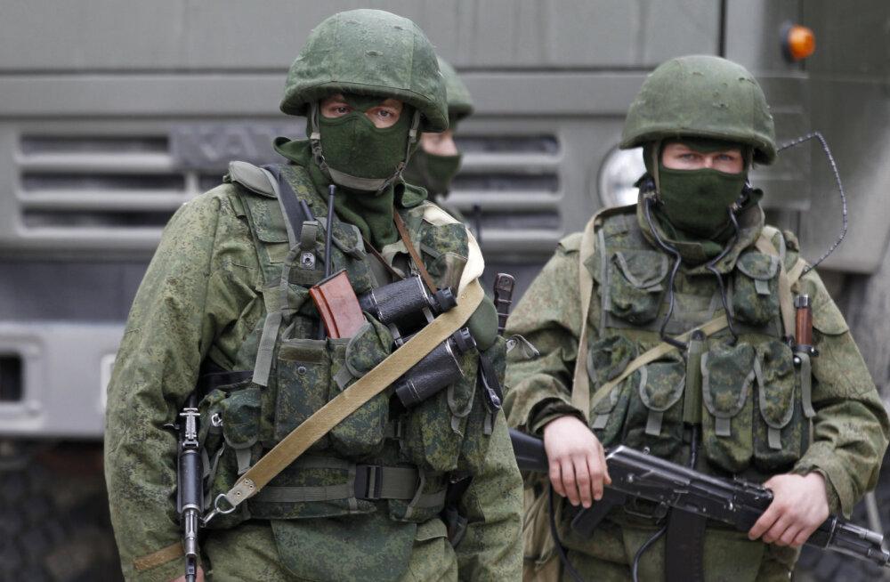 Российские военные без опознавательных знаков в Крыму. Март 2014