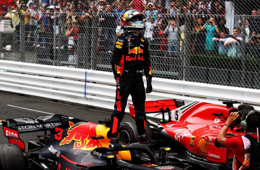 BLOGI | Igavavõitu Monaco GP võit läks Ricciardole, Vettel ja Hamilton samuti poodiumil
