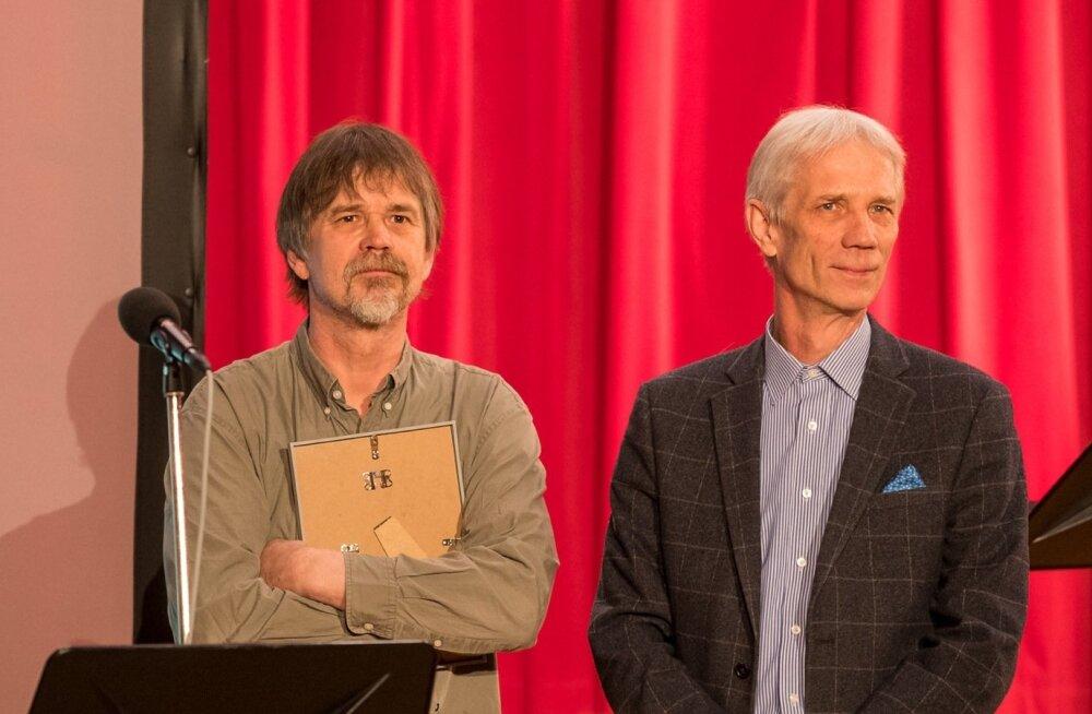 Raadioteatri 2017. aasta näitlejapreemia laureaadid Tõnu Oja ja Rein Oja.