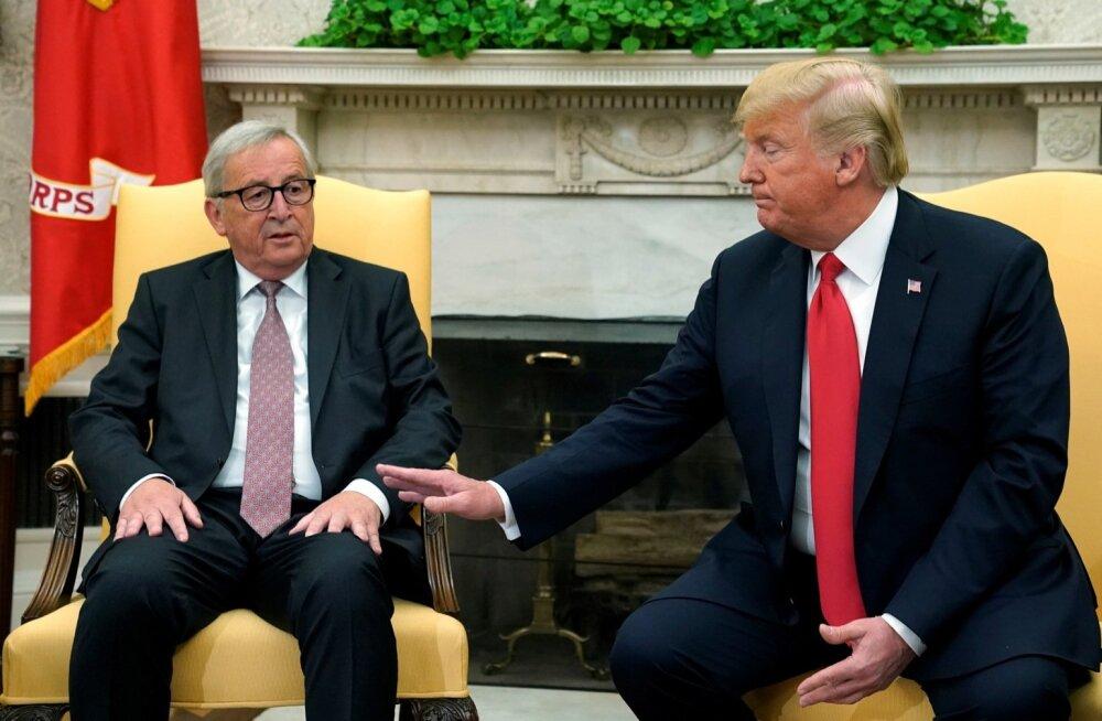 """Junckeri sõnul on tal Trumpiga hea klapp. """"Talle meeldivad inimesed, kes ei püüa tülist mööda vingerdada,"""" ütles ta pärast kohtumist."""