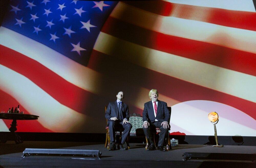"""""""Trampi ja Puutinit"""" maksab vaadata mitte ainult Trumpi ja Putini, vaid ka näitlejate Peeter Oja ja Jan Uuspõllu pärast."""