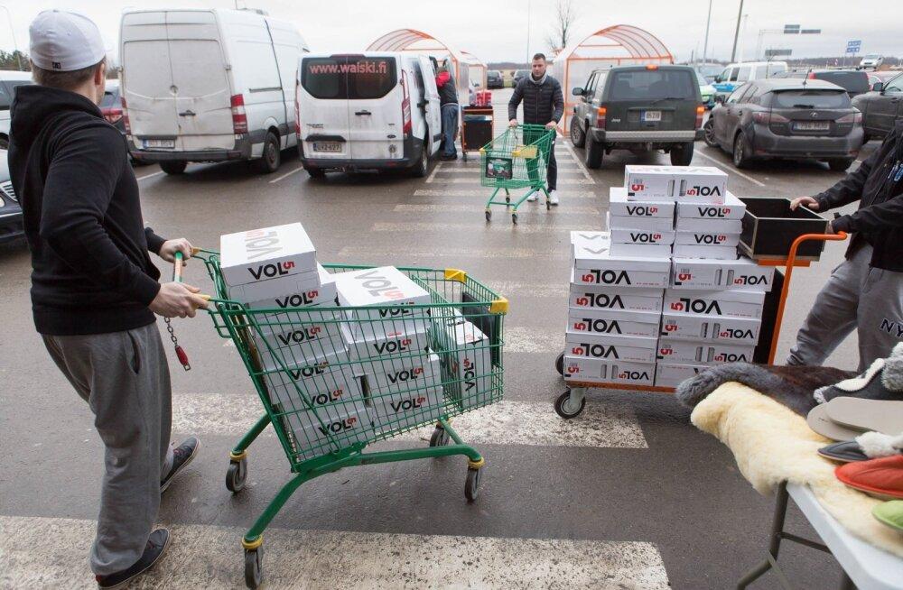 Tohutu kogus piirialkoholi. Toiduliit: alkoholi piirikaubandus kasvas aastaga üle kahe korra