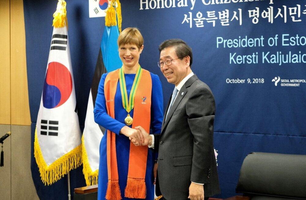 ФОТО: Керсти Кальюлайд стала почетной гражданкой Сеула