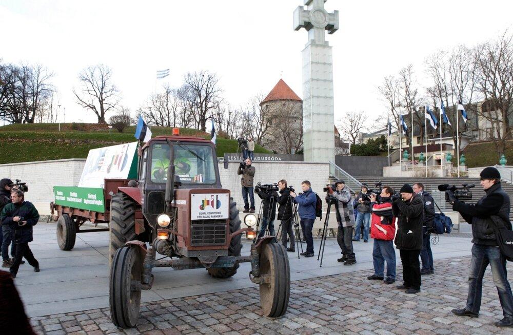 Balti riikide põllumehed nõuavad Brüsselis õiglasi tingimusi Euroopa ühisturul