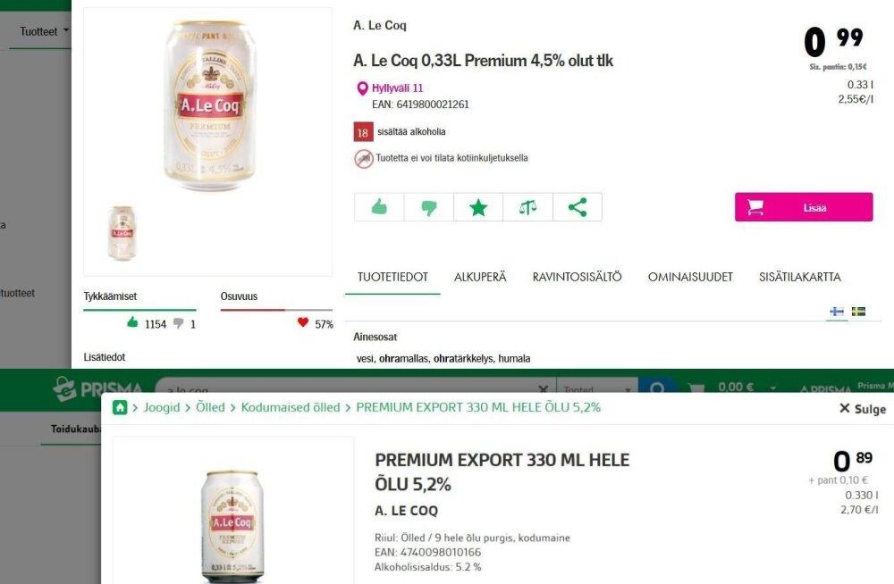 Исторический момент: цена на пиво в Эстонии достигла финского уровня