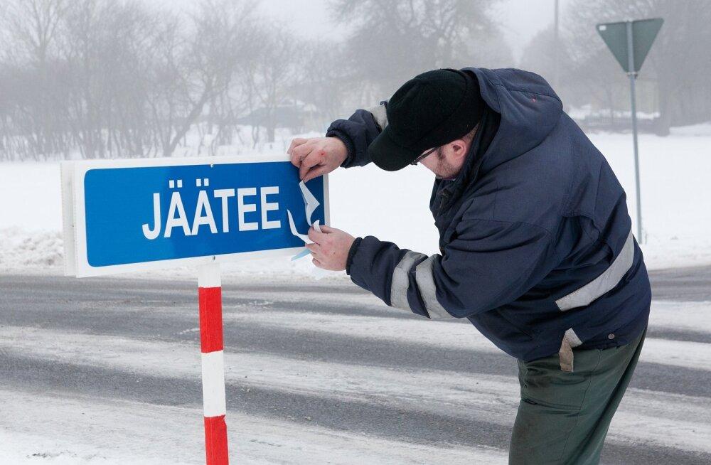 Jäätee Saaremaa ja Hiiumaa vahel