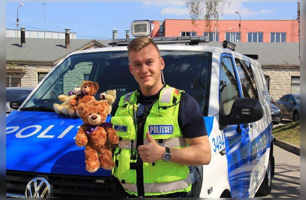 Kõigis Eesti politseisõidukeis on peagi traumeeritud laste lohutamiseks kallikaru