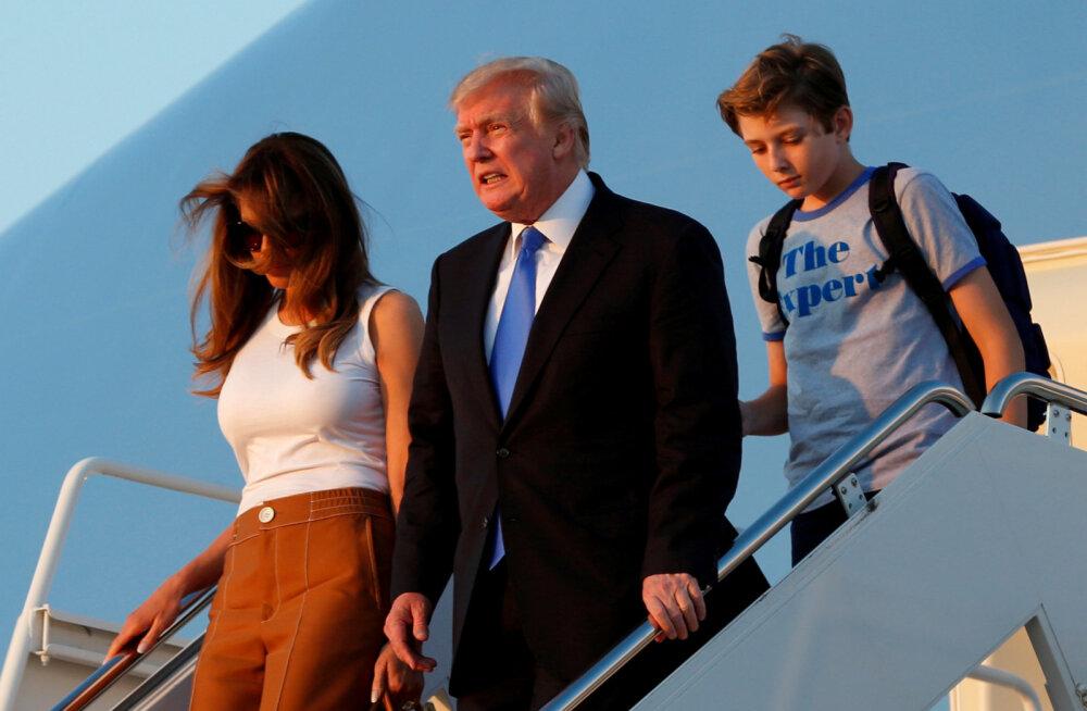 Lõpuks ühe katuse all! Melania Trump kolis pojaga Valgesse Majja