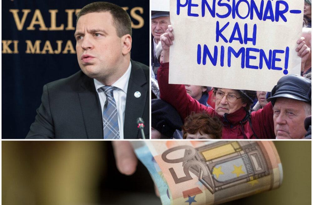 Jüri Ratas maksureformist: paljude töötavate pensionäride netopension vähenes, kuna nad saavad maksuvaba tulu tööandja juures
