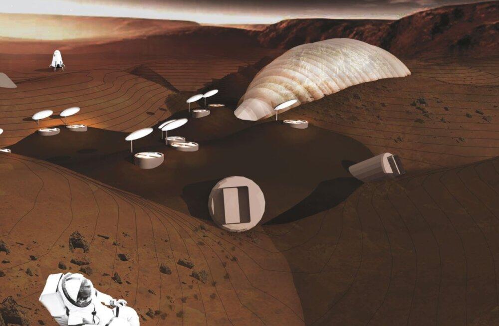 Arhitektuur tühjale lehele - Marsi koloniseerimine ja kõrgtehnoloogiline koopainimene