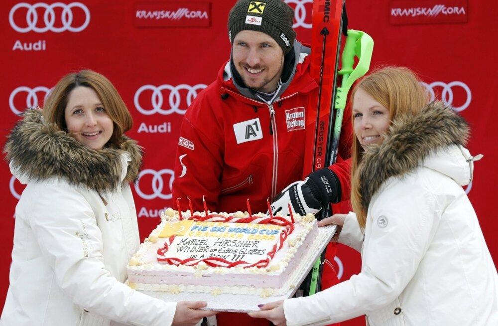 Marcel Hirscher kuuendat aastat järjest MK-sarja võitja