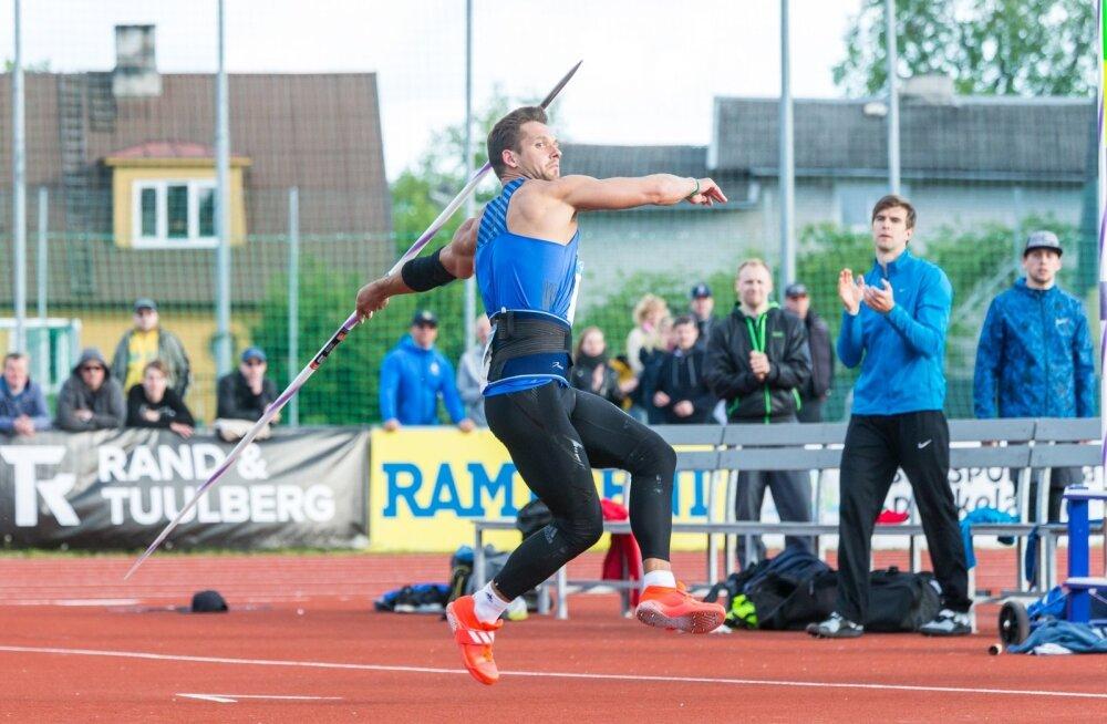 Magnus Kirt viskas eile Gustav Sule mälestusvõistlustel oda kahel korral üle 83 meetri.