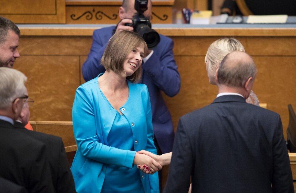 President Kaljulaid riigikogus