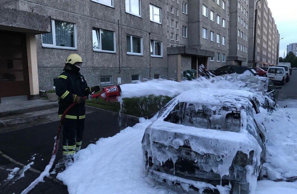 11. juulil põles Õismäel seitse autot.