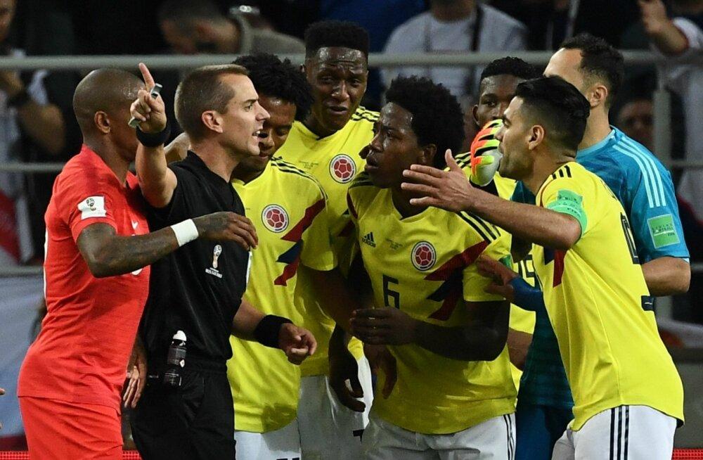 Vilemees Mark Geiger sai Kolumbia mängijatelt parasjagu pragada.
