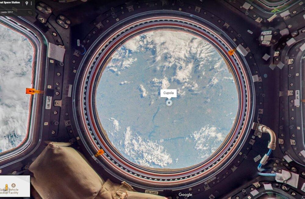 Tere tulemast Maa orbiidile! Google Street View lubab nüüd rahvusvahelises kosmosejaamas ringi hõljuda