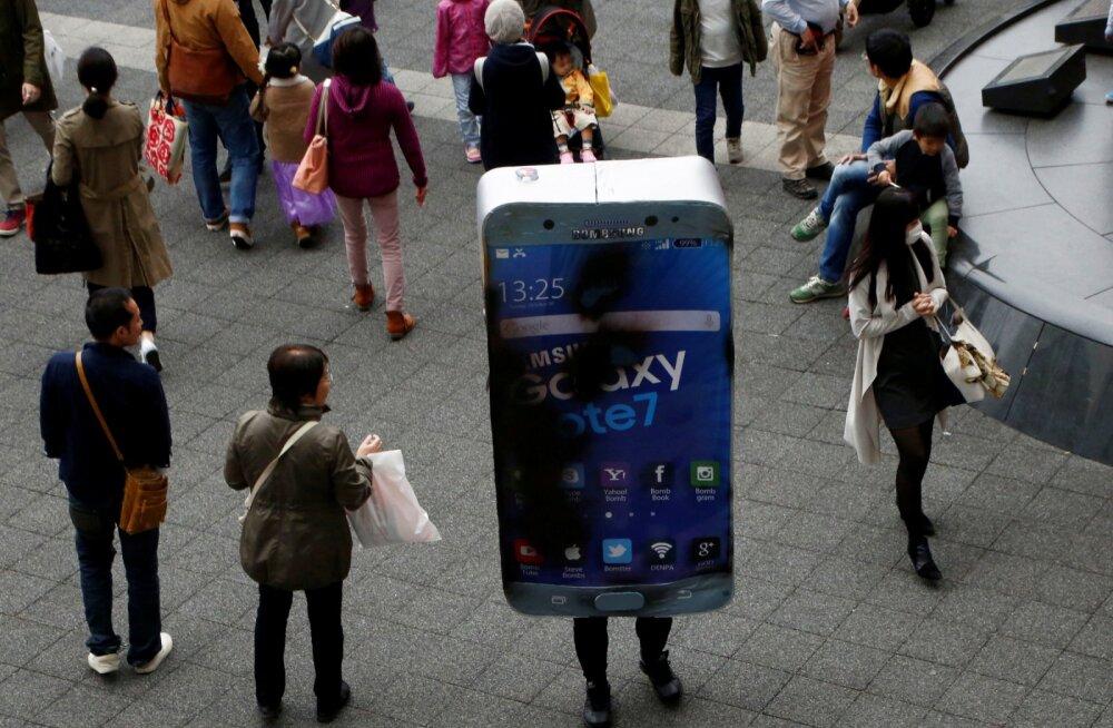 Samsung peab inimesi kiusama, et ohtlikuks kuulutatud Note 7 telefonid tagasi saada