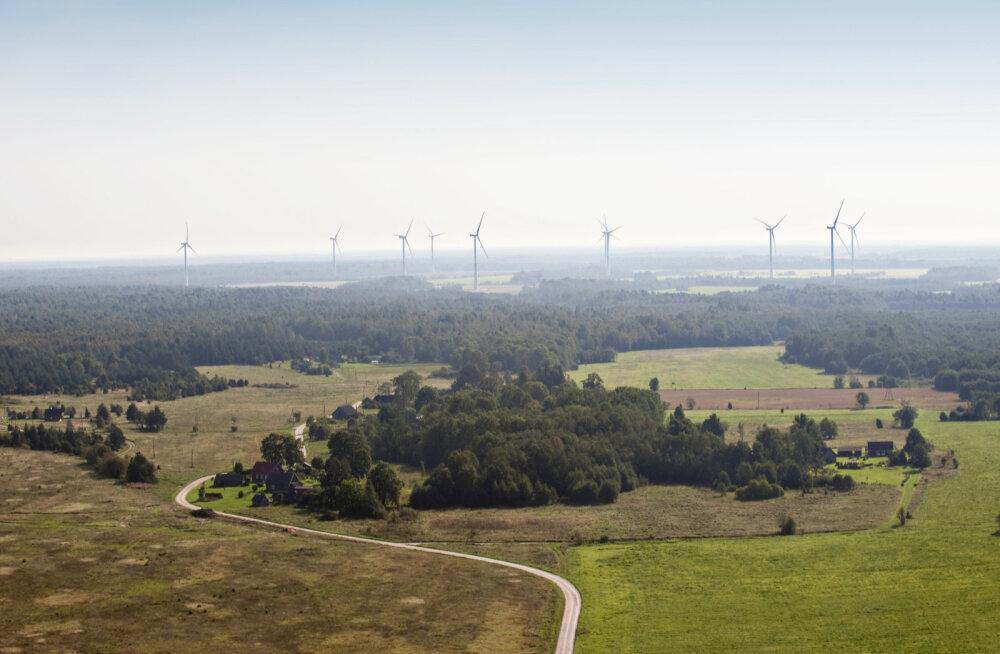 В сентябре объем производства парков ветрогенераторов Enefit Taastuvenergia вырос на четверть