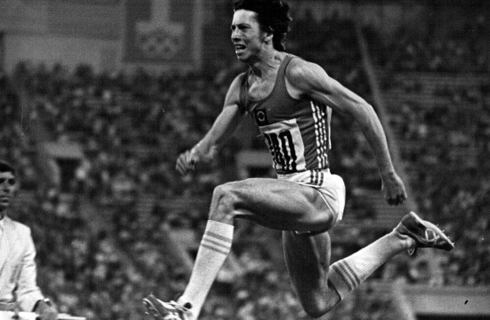 Jaak Uudmäe võiduhüpe 1980. aasta Moskva olümpial.