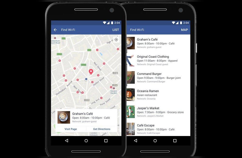 Facebook aitab nüüdsest sul tasuta wifit leida!