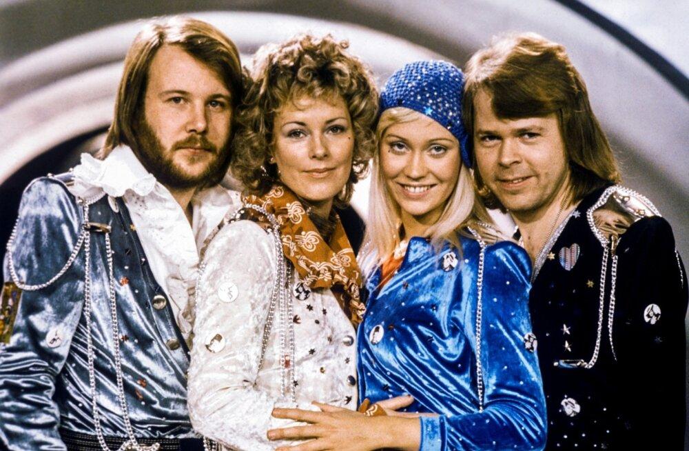 """Siis, kui kõik algas... 1974. aastal võitis ABBA oma looga """"Waterloo"""" Eurovisioni ja Rootsi superneliku tähelend hakkas pihta."""