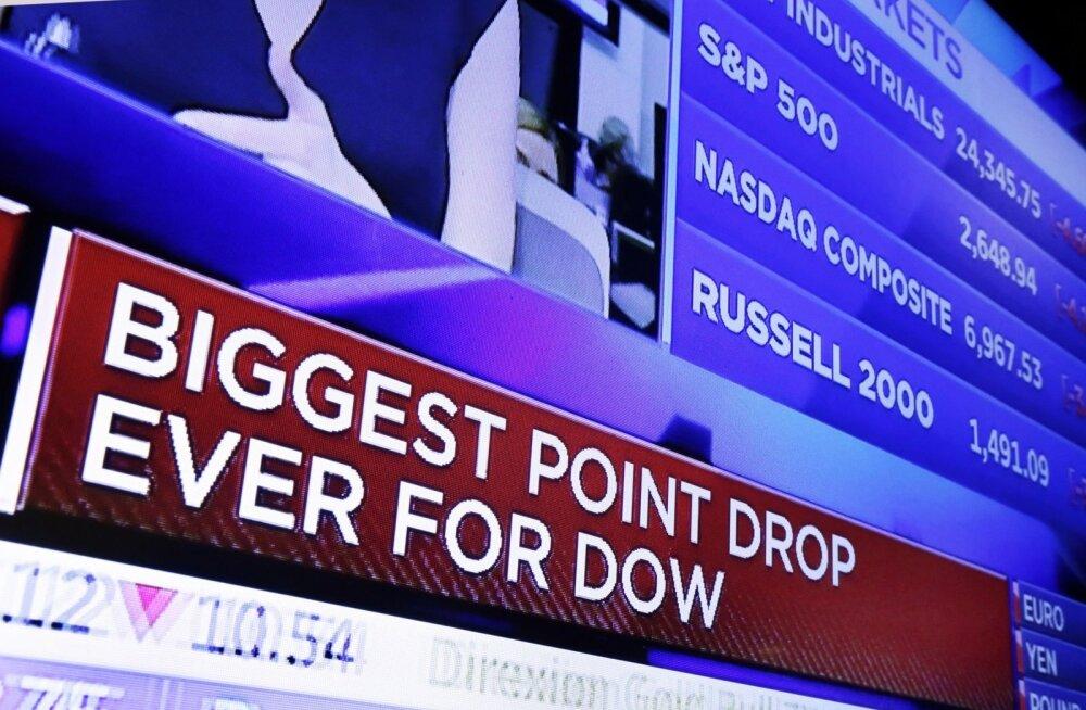 USA aktsiaturu kukkumine.