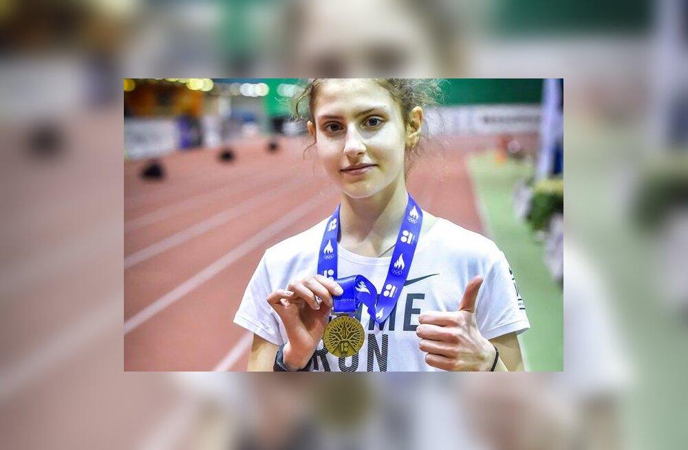 15aastane tütarlaps püstitas kergejõustiku meistrivõistlustel Eesti täiskasvanute rekordi ja tõusis Euroopas noorte seas teiseks