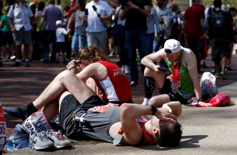 Pilt on illustratiivne. Londoni maratoni finiš