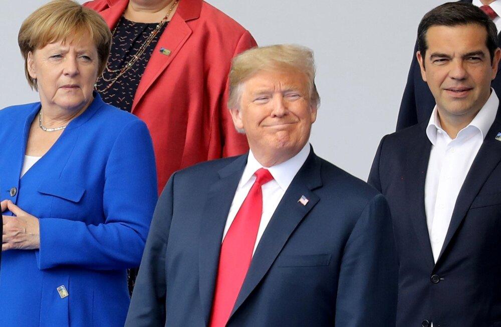 NATO tippkohtumise esimesel päeval sai peatähelepanu Saksamaa kantsleri Angela Merkeli ja Ameerika presidendi Donald Trumpi sõnasõda.