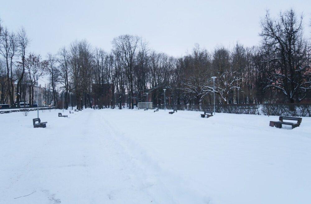 В Нарве начинаются работы по реконструкции парка у бывшего ДК имени Герасимова