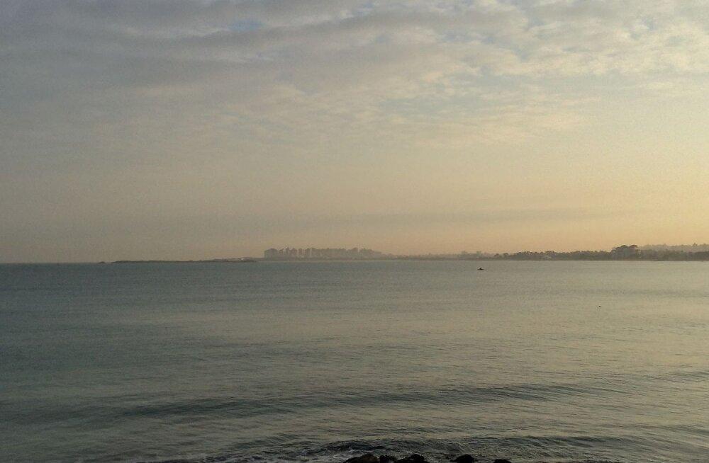 Рассвет над Седиземным морем.