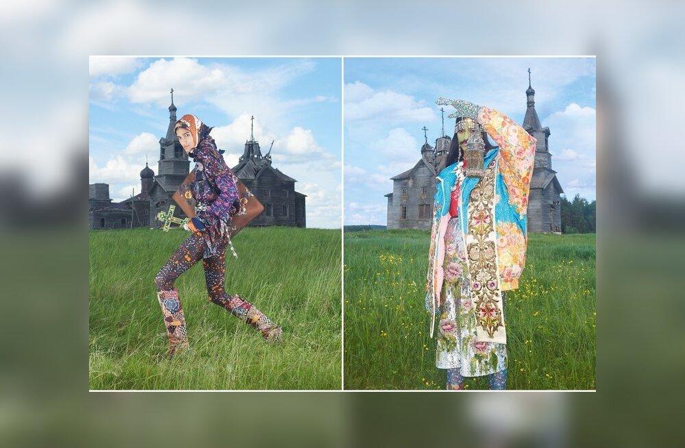ГАЛЕРЕЯ: Ужас какой! Итальянский Vogue устроил фотосессию в русской деревне