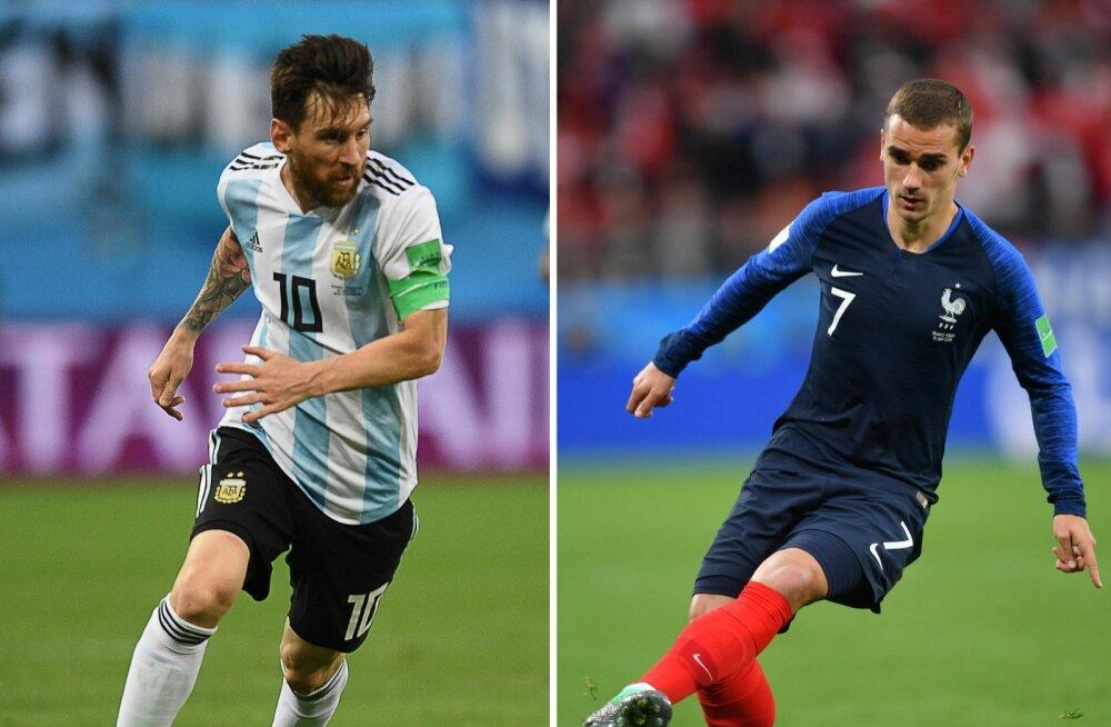 Lionel Messi ja Antoine Griezmann.